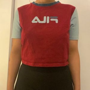 Fila colorblock crop top/ size: youth L